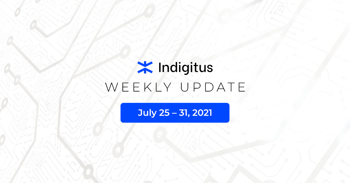 """Featured image for """"Indigitus Week Update: July 25 – 31, 2021"""""""