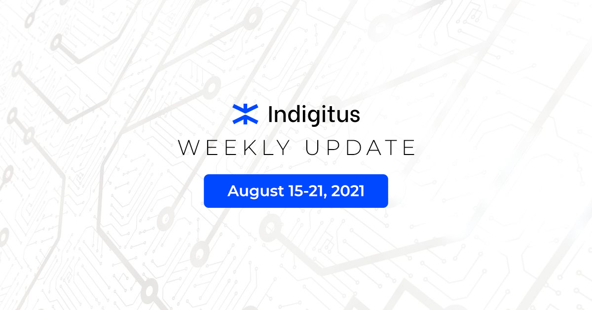 """Featured image for """"Indigitus Week Update: Aug 15-21, 2021"""""""