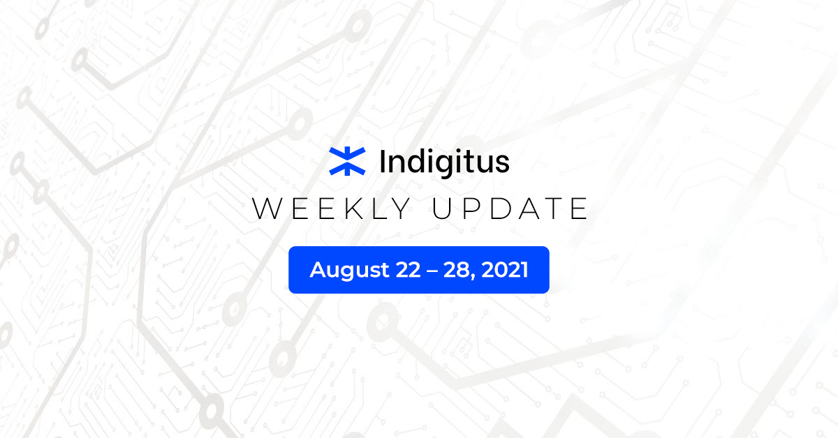 """Featured image for """"Indigitus Week Update: Aug 22 – 28, 2021"""""""